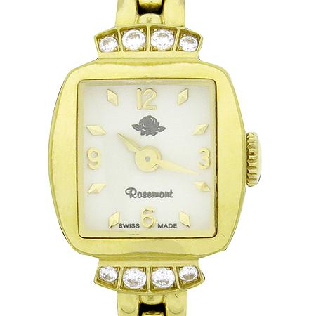 ROSEMONT(로즈몽) RS016 크리스탈 장식 스틸 여성용 시계