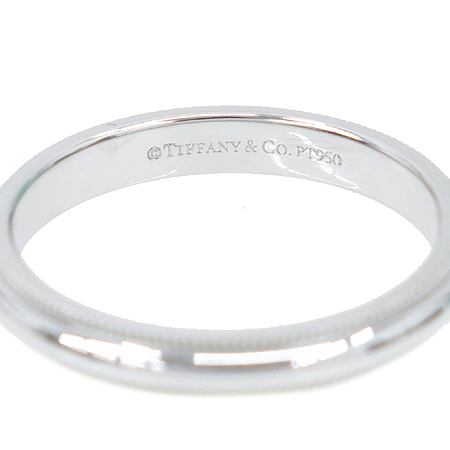 Tiffany(티파니) PT950 (플래티늄) 밀그레인 3MM 반지-16호 [압구정매장]