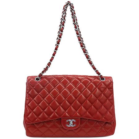 Chanel(샤넬) 레드 램스킨 클래식 맥시 사이즈 은장 체인 숄더백 이미지2 - 고이비토 중고명품