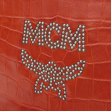 MCM(엠씨엠) MMM1SGV55RE001 RAIN EXCLUSIVE COLLECTION(레인 익스큐시브 컬렉션) 크로크다일 패턴 레드 로고 스터드장식 크로스백