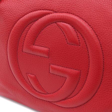 Gucci(구찌) 308982 크루즈 라인 인터로킹 로고 레드 레더 SOHO(소호) 골드 메탈 태슬 체인 숄더백