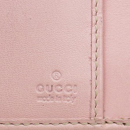 Gucci(구찌) 181668 GG로고 핑크 PVC 코팅 장지갑