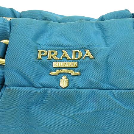 Prada(프라다) BR3815 그린 컬러 패브릭 레더 트리밍 2WAY
