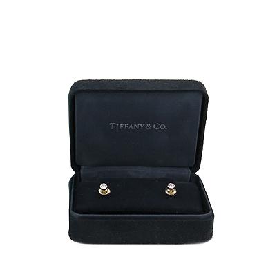 Tiffany(티파니) 18k 핑크골드 Elsa Peretti(엘사퍼레티) 1포인트 다이아 0.14캐럿 Yard(야드) 귀걸이