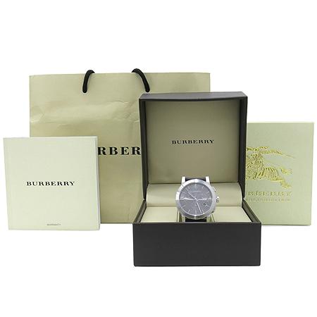 Burberry(버버리) BU9359 크로노그래프 가죽밴드 남성용 시계 [압구정매장]