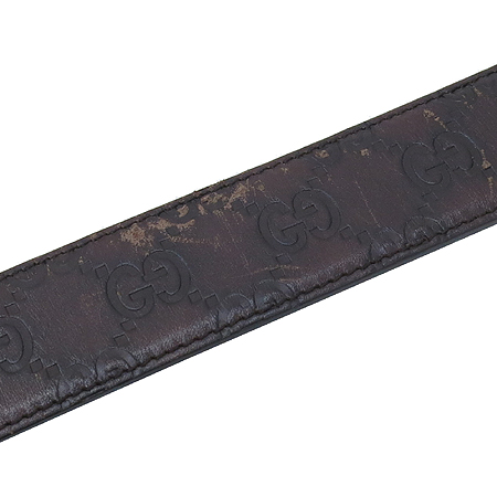 Gucci(구찌) 162946 다크브라운 시마 레더 은장 스퀘어 버클 남성용 벨트 [동대문점] 이미지5 - 고이비토 중고명품