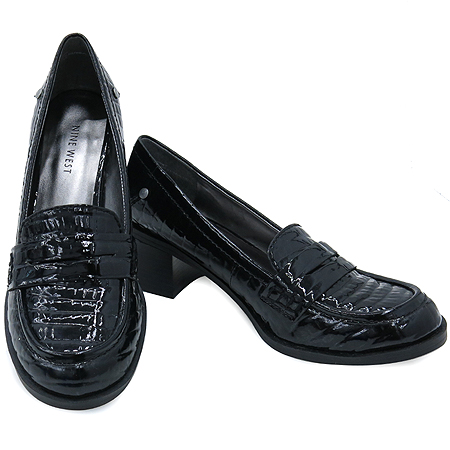 NINE WEST(나인웨스트) 블랙 컬러 페이던트 여성용 구두