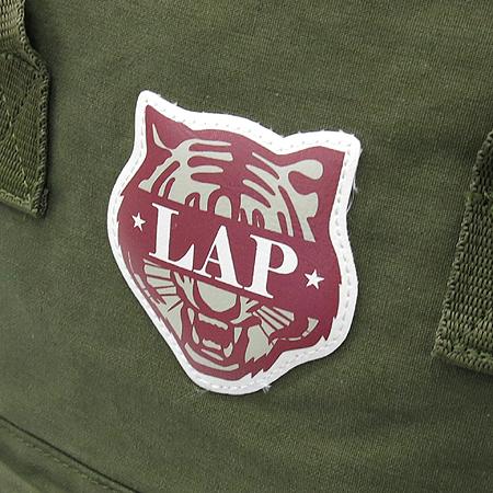 LAP(랩) 카키 패브릭 로고 장식 백팩 이미지3 - 고이비토 중고명품