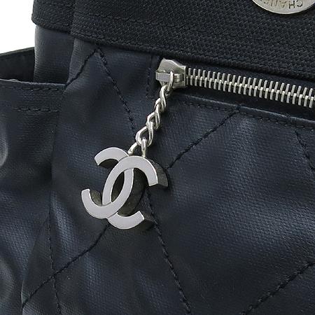 Chanel(샤넬) A34210Y04413 비아리츠 L사이즈 블랙 패브릭 투 포켓 숄더백