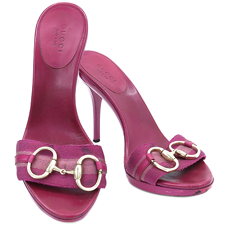 Gucci(구찌) 158767 핑크 페이던트 홀스빗 장식 샌들