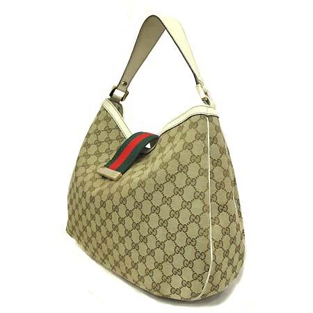 Gucci(구찌) 233604 GG 로고 자가드 삼색 스티치 숄더백 [부천 현대점]