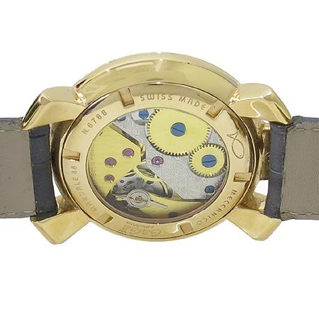 GAGA MILANO(가가 밀라노) 매뉴얼 48MM 금장 가죽밴드 수동 시계 이미지4 - 고이비토 중고명품