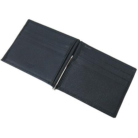 Prada(프라다) 2M1077 SAFFIANO NERO 사피아노 블랙 로고스탬핑 6크레딧카드 머니클립