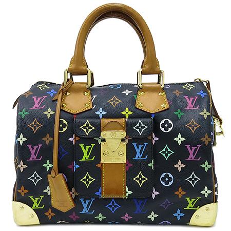 Louis Vuitton(루이비통) M92642 모노그램 멀티컬러 블랙 멀티스피디 30 토트백