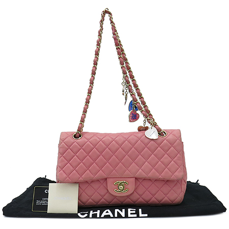 Chanel(샤넬) A46514 시즌 한정판 클래식라인 발렌타인 램스킨 금장체인 숄더백[인천점]