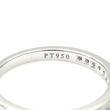 Tiffany(티파니) PT950(플래티늄) CHANNEL SET 17포인트 다이아 반지-9.5호