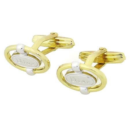 Dior(크리스챤디올) 금장 콤비 로고 커프스 링크