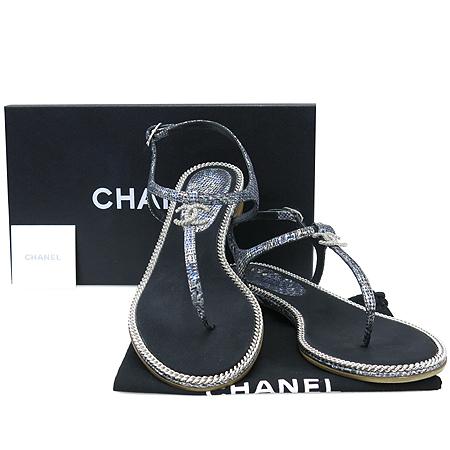 Chanel(샤넬) G28308X01000 BE CC라인 COCO로고 펄 패턴 여성용 샌들 [압구정매장]