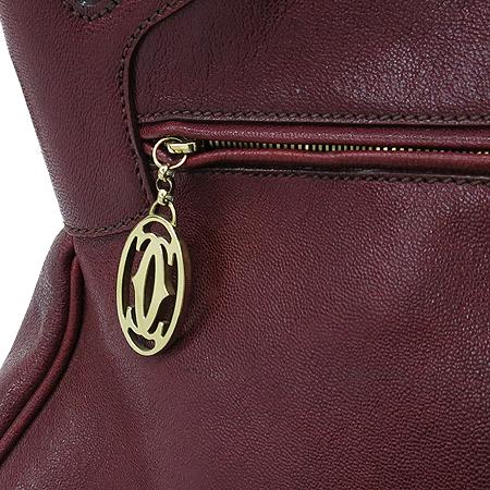 Cartier(까르띠에) 마르첼로 S 버건디 레더 토트백