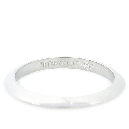 Tiffany(티파니) PT950 (플래티늄) 웨딩 밴드 반지 - 7.5호