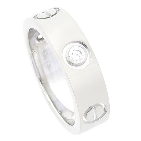 Cartier(까르띠에) B4032551 18K(750) 화이트골드 3포인트 다이아 러브링 반지 -11호