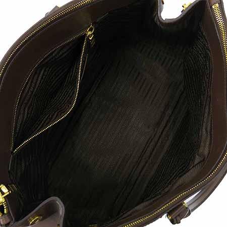 Prada(프라다) BN1802 SAFFIANO LUX 사피아노 럭스 브라운 금장로고 토트백