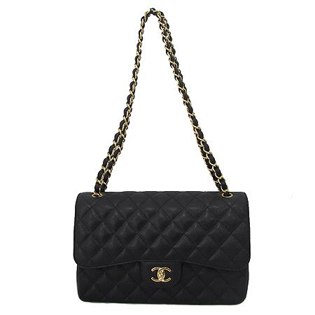 Chanel(샤넬) A28600Y01588 캐비어 스킨 클래식 점보 사이즈 금장 체인 숄더백 [미아현대매장] 이미지2 - 고이비토 중고명품
