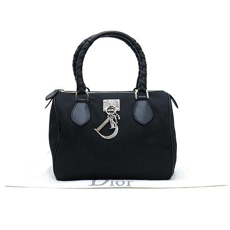 Dior(크리스챤디올) 시모 패턴 패브릭 보스톤 토트백