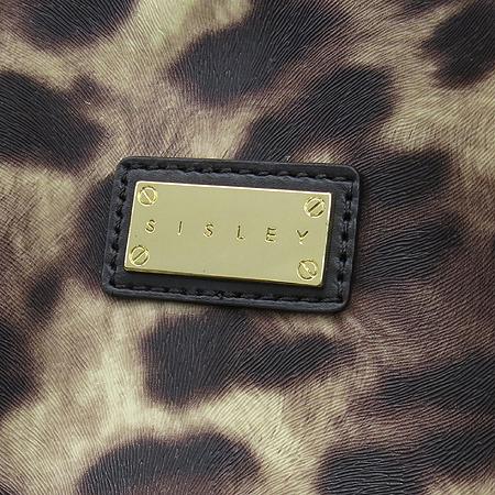 Sisley(시슬리) CM-J559 금장 로고 레오파드 PVC 쇼퍼 숄더백