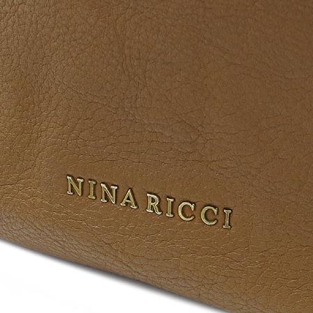 NINA RICCI(니나리치) 금장 로고 카멜 레더 2WAY