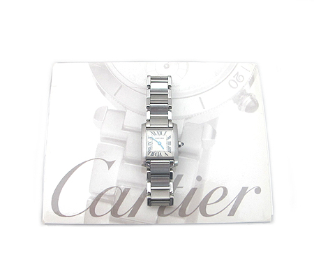 Cartier(까르띠에) W51008Q3 탱크 S 사이즈 스틸 여성용 시계 [분당매장]