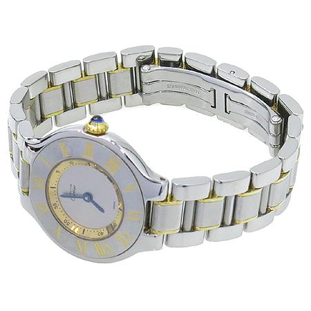 Cartier(까르띠에) W10073R6 21세기 18K 콤비 여성용 시계 이미지2 - 고이비토 중고명품