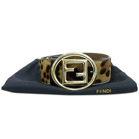 Fendi(펜디) 8C0411 레오파드 송치 금장 로고 버클 여성용 벨트
