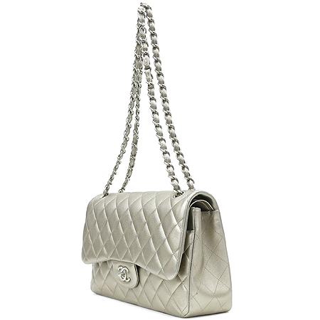Chanel(샤넬) 브론즈 메탈릭 카프스킨 클래식 점보사이즈 체인 숄더백