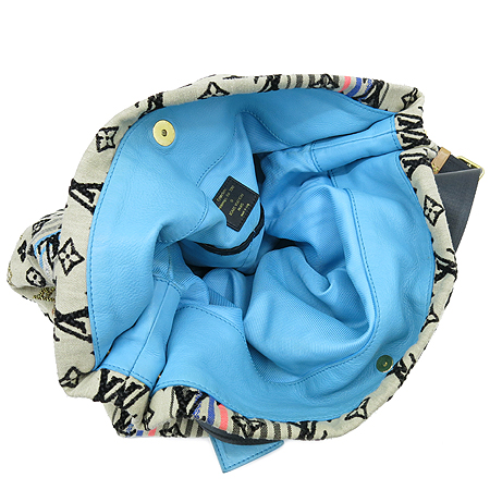 Louis Vuitton(루이비통) M40359 한정판 모노그램 보헤미안 핑크 블루 혼합 실버 블랙 스티치 숄더백 [2010 LIMITED EDITION