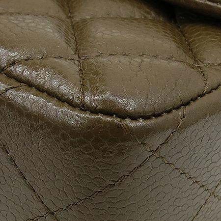 Chanel(샤넬) A69900 캐비어스킨 모카브라운 클래식 미니 은장로고 체인 숄더백