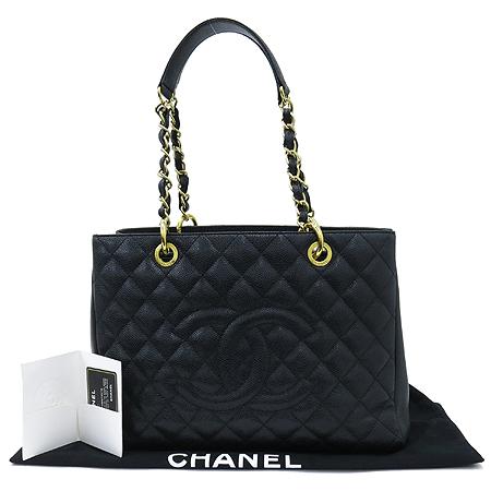 Chanel(샤넬) A50995 그랜드샤핑 캐비어스킨 골드 메탈 체인 숄더백