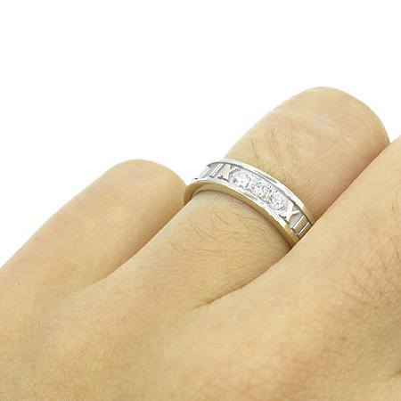 Tiffany(티파니) 18K 화이트 골드 아틀라스 3포인트 다이아 반지 -9호