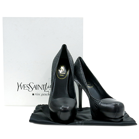 YSL(입생로랑) 275506 페이즐리 블랙 레더 가보시 여성용 구두 [압구정매장]