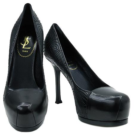 YSL(입생로랑) 275506 페이즐리 블랙 레더 가보시 여성용 구두 [압구정매장] 이미지2 - 고이비토 중고명품