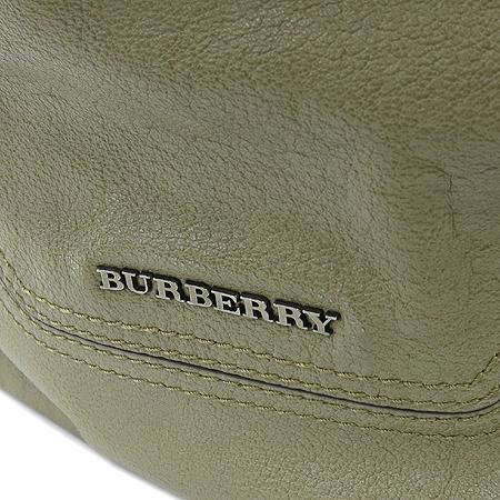 Burberry(버버리) 이니셜 장식 베이지 레더 숄더백