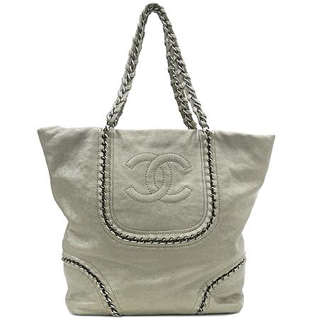 Chanel(샤넬) COCO 로고 럭셔리바이 캐비어스킨 은장 체인 숄더백