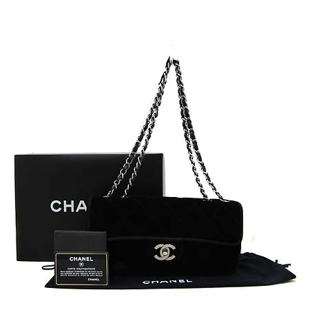 Chanel(샤넬) 클래식 벨벳 S사이즈 은장체인 숄더백 [부천 현대점]