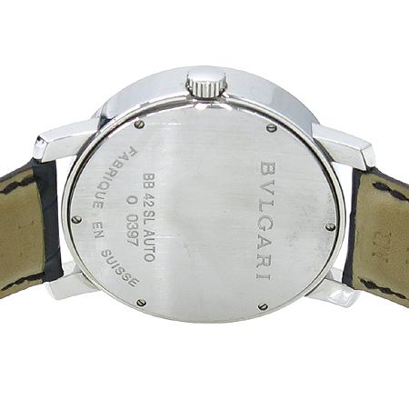Bvlgari(불가리) BB42SL BVLGARI BVLGARI(불가리 불가리) 오토매틱 악어가죽밴드 남성용 시계 이미지4 - 고이비토 중고명품