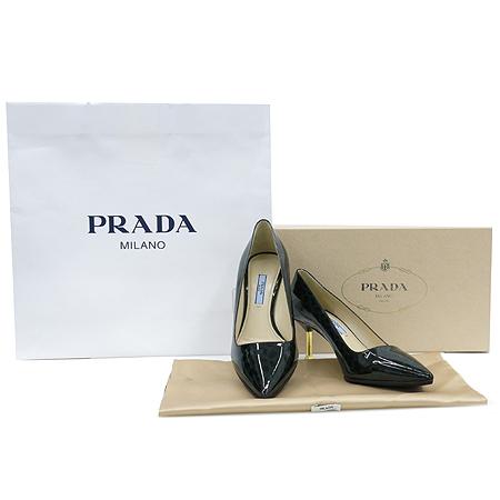 Prada(프라다) 1I831D 레오파드 그린 페이던트 펌프스 여성용구두