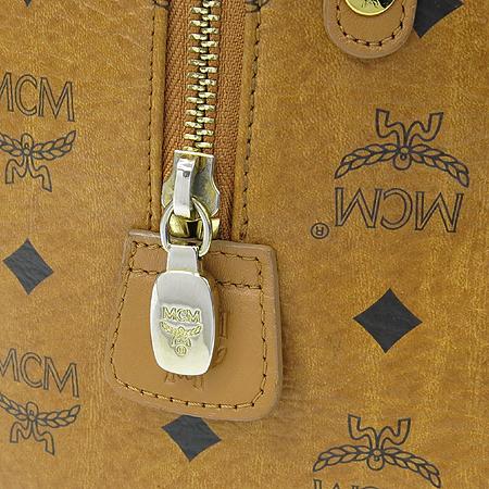 MCM(엠씨엠) 1011050280122 비세토스 PVC 금장로고 보스톤 토트백