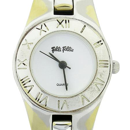 FOLLI FOLLI(폴리폴리) 로만 라운드 베젤 스틸 여성용 시계