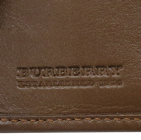 Burberry(버버리) 브라운 레더 클래식 패브릭 반지갑