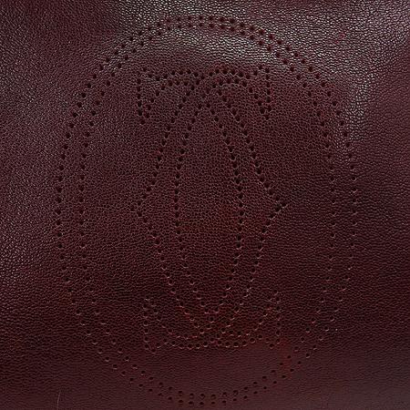 Cartier(까르띠에) 버건디 레더 마르첼로 토트백 이미지5 - 고이비토 중고명품