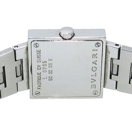 Bvlgari(불가리) SQ22SS 사각 펜던트 쿼츠 여성용 스틸 시계